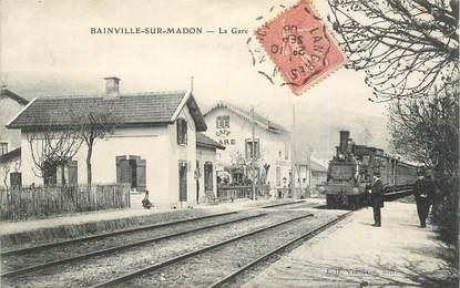"""CPA FRANCE 54 """"Bainville sur Madon, la gare"""" / TRAIN"""