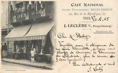 """CPA FRANCE 54 """"Toul, café national"""""""