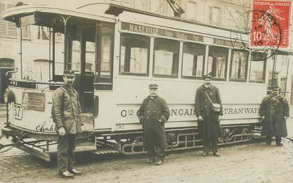 """CARTE PHOTO FRANCE 54 """"Maxeville, tramway"""""""