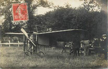 "CARTE PHOTO FRANCE 53 ""Pré en Pail"" / AVIATION"