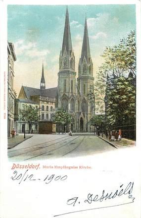 """CPA ALLEMAGNE """"Düsseldorf, l'Eglise"""""""