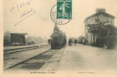 "CPA FRANCE 53 ""Javron, la gare"" / TRAIN"