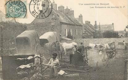 """CPA FRANCE 50 """"Au Becquet, Les rotisseurs de moutons"""""""