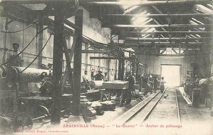 """CPA FRANCE 55 """"Abainville, Atelier de polissage, le Granit"""""""