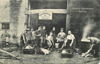 "CPA FRANCE 55 ""Abattoir cochons région Nantillois"""