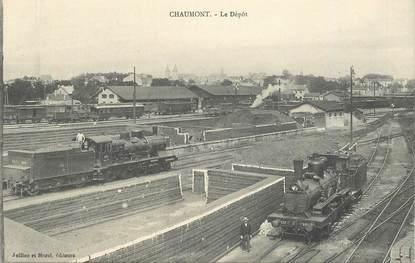 """CPA FRANCE 52 """"Chaumont, le Dépôt"""" / TRAIN"""