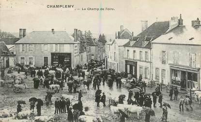 """CPA FRANCE 58 """"Champlemy, le champ de foire"""""""