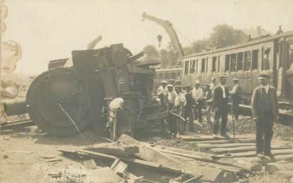 "CARTE PHOTO FRANCE 57 ""Sarrebourg, accident de chemin de fer"" / TRAIN"