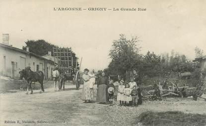 """CPA FRANCE 51 """"Grigny, la grande rue"""""""
