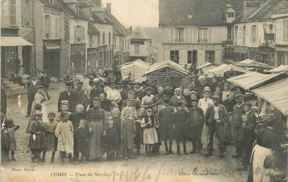 """CPA FRANCE 51 """"Fismes, place du Marché"""""""