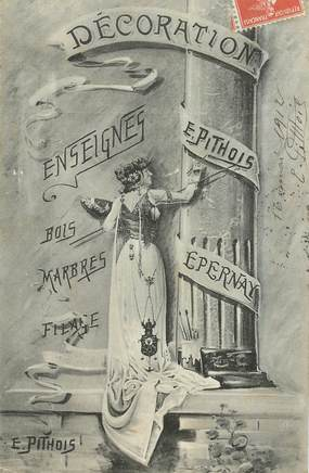 "CPA FRANCE 51 ""Epernay, Décorations Enseignes"""