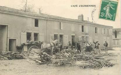 """CPA FRANCE 51 """"Café d'Ecriennes"""""""