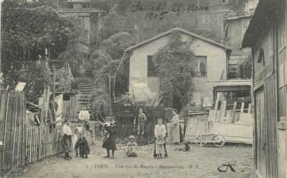 """CPA FRANCE 75018 """"Paris, une vue du Maquis de Montmartre"""""""