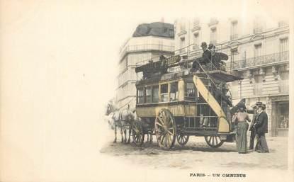 """CPA FRANCE 75 """"Paris, un omnibus"""""""