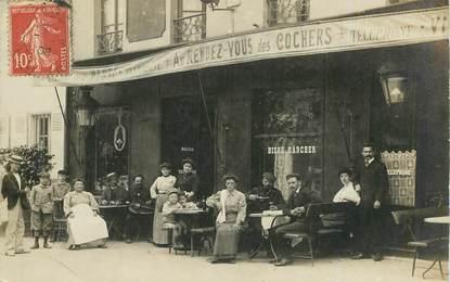 """CARTE PHOTO FRANCE 75 """"Paris"""" / COMMERCE CAFE RESTAURANT Au Rendez vous des cochers"""