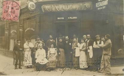 "CARTE PHOTO FRANCE 75014 ""Paris, Restaurant maison P.Pillarou, rue Alphonse Daudet"""