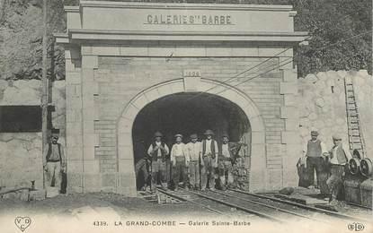 """CPA FRANCE 30 """"La Grand Combe, Galerie Sainte Barbe"""" / MINE"""