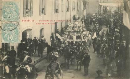 """CPA FRANCE 30 """"Bessèges, cavalcade du 3 septembre 1905, char de la Verrerie"""""""