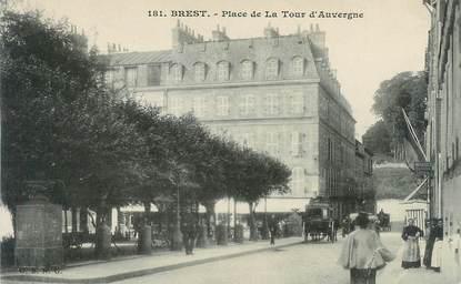 """CPA FRANCE 29 """"Brest, la Place de la Tour d'Auvergne"""""""