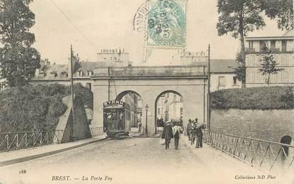 "CPA FRANCE 29 ""Brest, la Porte Foy"" / TRAMWAY"