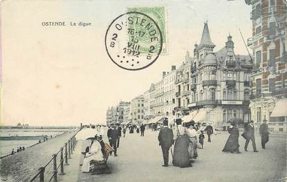 """CPA BELGIQUE """"Ostende, la digue"""""""