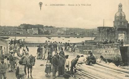 """CPA FRANCE 29 """"Concarneau, entrée de la ville close"""""""