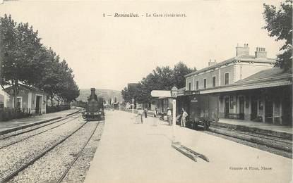 """CPA FRANCE 30 """"Remoulins, la gare"""" / TRAIN"""