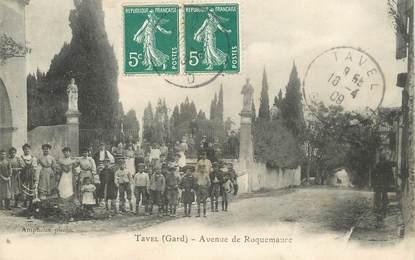 "CPA FRANCE 30 ""Tavel, avenue de Roquemaure"""