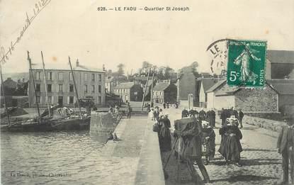 """CPA FRANCE 29 """"Le Faou, Quartier Saint Joseph"""""""