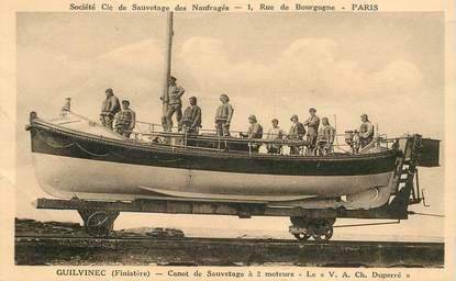 "CPA FRANCE 29 ""Guilvinec, canot de sauvetage"""