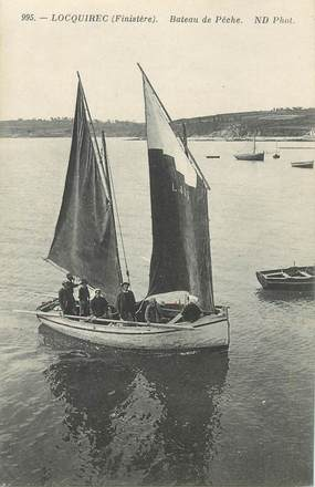 "CPA FRANCE 29 ""Locquirec, bateau de pêche"""