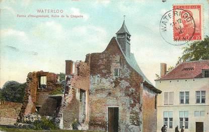 """CPA BELGIQUE """"Waterloo, Ferme d'Hougoumont, ruine de la chapelle"""""""