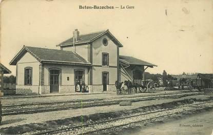 """CPA FRANCE 77 """"Beton Bazoches, la gare"""""""