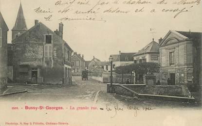 "CPA FRANCE 77 ""Bussy Saint Georges, la grande rue"""