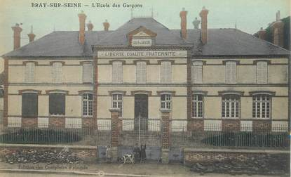 "CPA FRANCE 77 ""Bray sur Seine, Ecole des Garçons"""