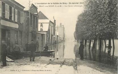 "CPA FRANCE 77 ""Bray sur Seine, Inondation 1910"""