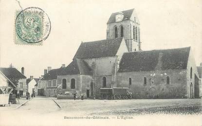 """CPA FRANCE 77 """"Beaumont du Gâtinais, L'Eglise"""""""