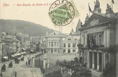 """CPA BELGIQUE """"Spa, rue Royale, les Bains et le casino"""""""