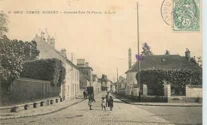"CPA FRANCE 77 ""Brie Comte Robert, grande rue de Paris"""
