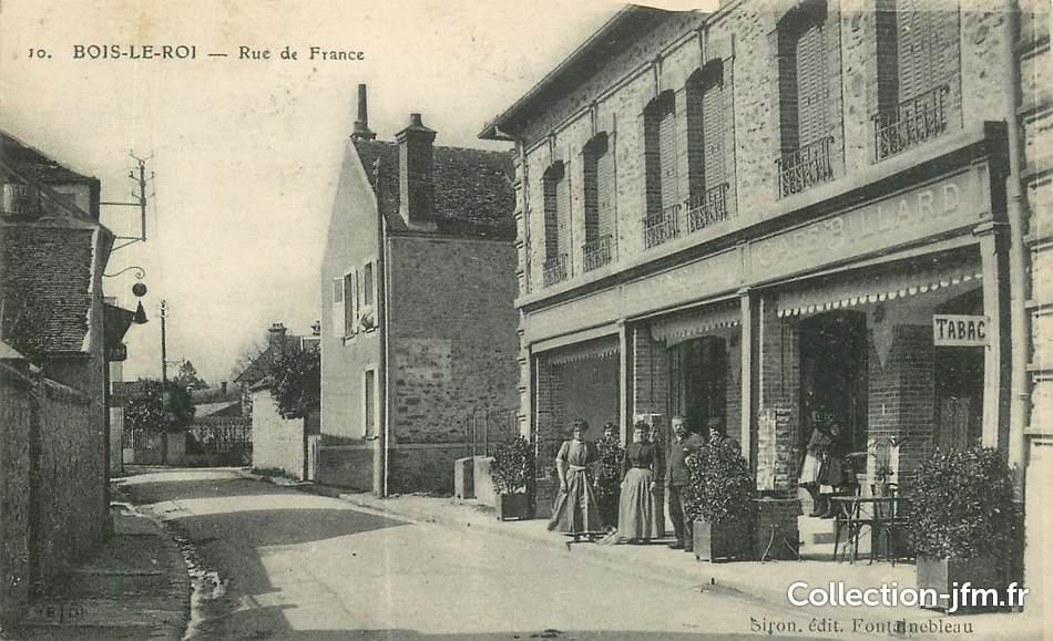 cpa france 77 bois le roi la rue de france 77 seine et marne autres communes 77 ref. Black Bedroom Furniture Sets. Home Design Ideas