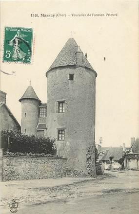 """CPA FRANCE 18 """"Massay, tourelle de l'ancien prieuré"""""""