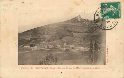 """CPA FRANCE 39 """"Env. de Vincelles, Vue sur Grusse et Saint Laurent de la Roche"""""""