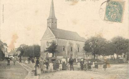 """CPA FRANCE 36 """"Ambrault, l'Eglise"""""""