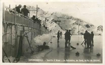 """CPSM FRANCE 31 """"Superbagnères, la Patinoire et le Pic de Céciré"""" / CURLING SPORT"""