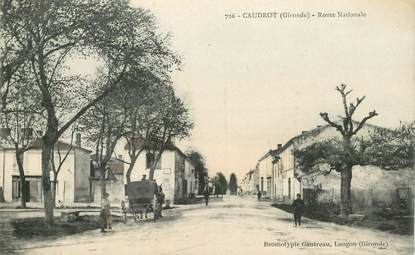 "CPA FRANCE 33  ""Caudrot,  la route Nationale"""