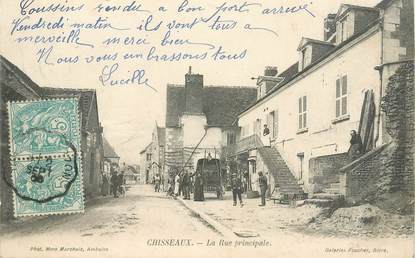 """CPA FRANCE 37 """"Chisseaux, la rue principale"""""""