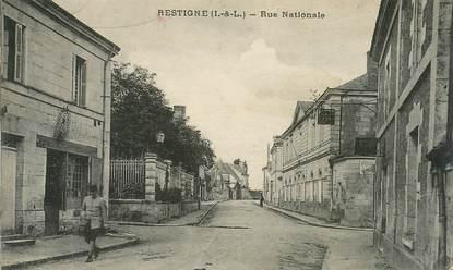 """CPA FRANCE 37 """"Restigné, la rue Nationale"""""""
