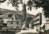 """68 Haut Rhin / CPSM FRANCE 68 """"Guebwiller, rue de la gare, église Notre Dame"""""""