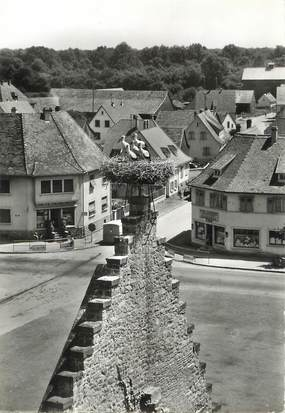 "/ CPSM FRANCE 68 ""Ostheim, mur des cigognes"""