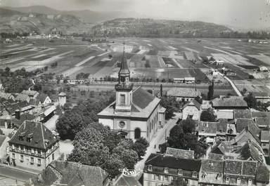 """/ CPSM FRANCE 68 """"Wintzenheim, l'église Saint Laurent et la mairie"""""""